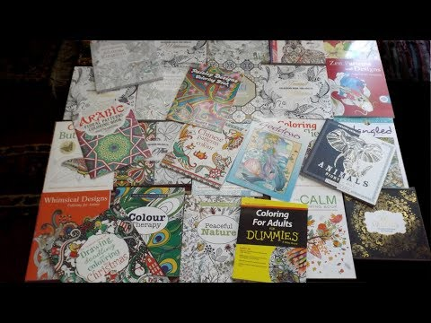 PART 1......Huge Adult Colouring Book haul and review.......