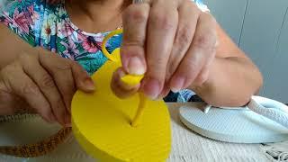 Como cortar e emendar alças de havaianas sem costurar