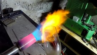 Самодельная газовая горелка с наддувом