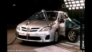 2011 Toyota Corolla | Side Crash Test | CrashNet1