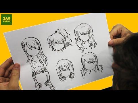COMO DIBUJAR CABELLO ANIME / COMO DIBUJAR CABELLO MANGA - How to draw hair