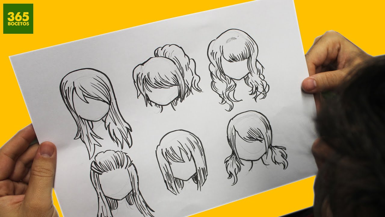 COMO DIBUJAR CABELLO ANIME / COMO DIBUJAR CABELLO MANGA - How to draw hair