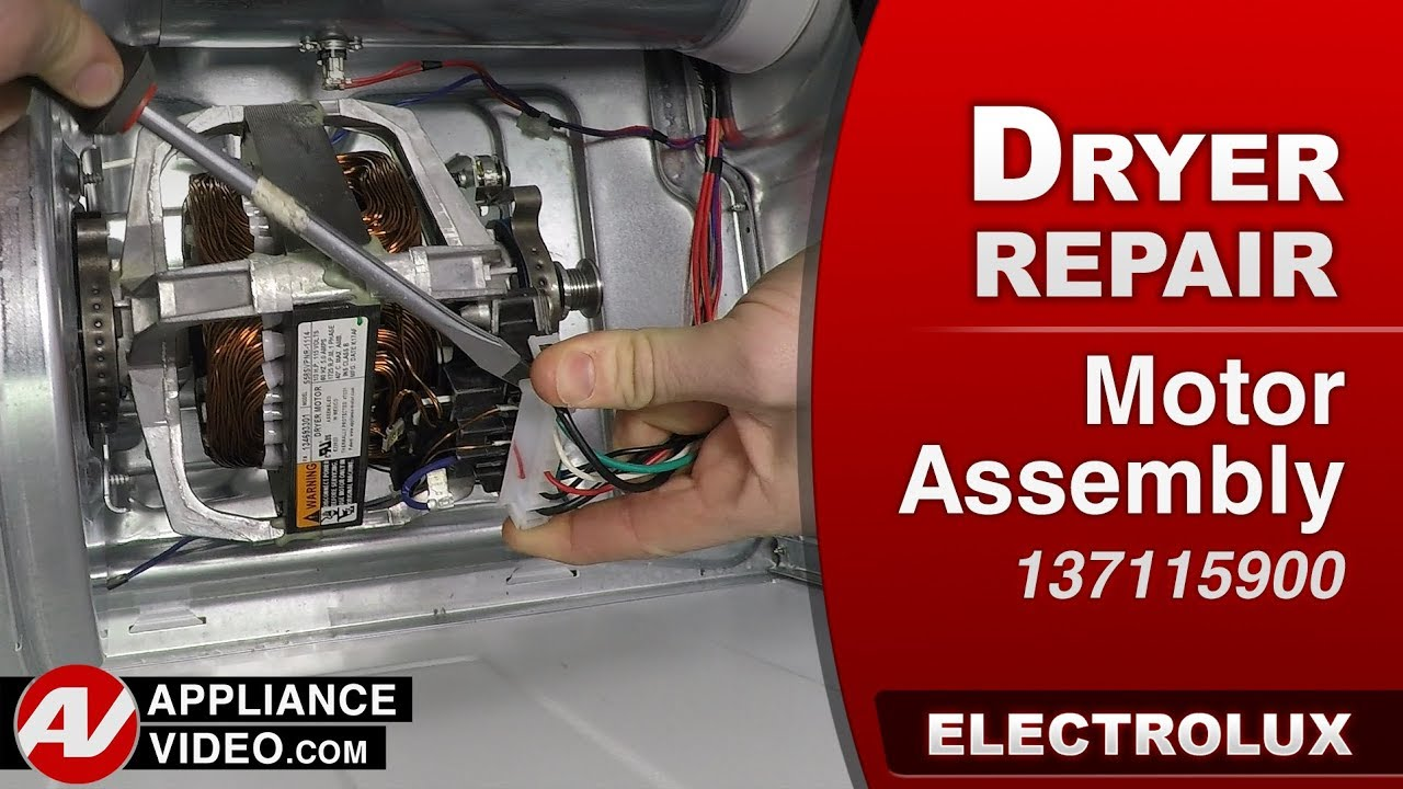 electrolux dryer motor assembly diagnostic repair [ 1280 x 720 Pixel ]