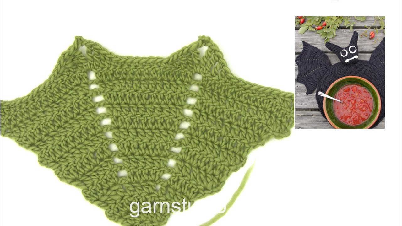 Dragon Wings Knitting Pattern : How to crochet the bat wing in DROPS Extra 0-1043 - YouTube