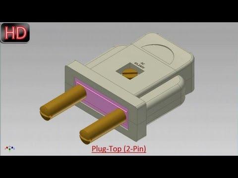 Plug-Top (2-Pin) (Video Tutorial) Autodesk Inventor
