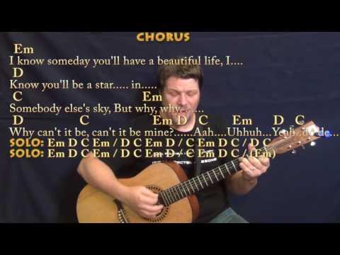 Black (Pearl Jam) Guitar Cover Lesson with Chords/Lyrics - Munson