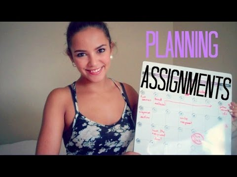 Planning Your Assignments - School Tips - lx3bellexoxo ♡