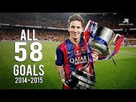 Messi  scored 58 Goals in 2014-2015 season !!