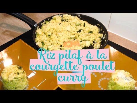 riz-pilaf-aux-courgettes,-poulet-&-curry---recette-facile