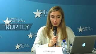 Интервью похищенной в Киеве украинской журналистки Шария в Брюсселе