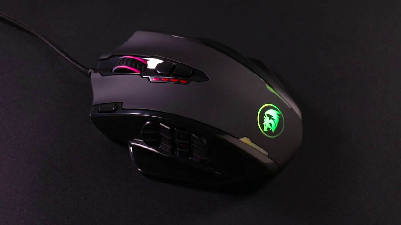 Redragon Impact M908 RGB LED MMO Gaming Mouse