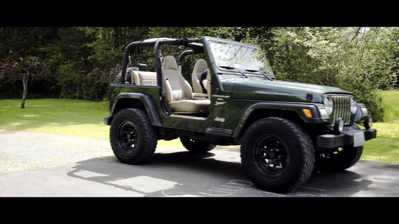 2000 jeep tj wrangler sport 4 0 l topless youtube. Black Bedroom Furniture Sets. Home Design Ideas