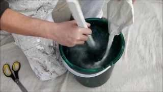 How to mix wallpaper paste