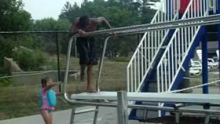 Jumpin in a 11 feet pool