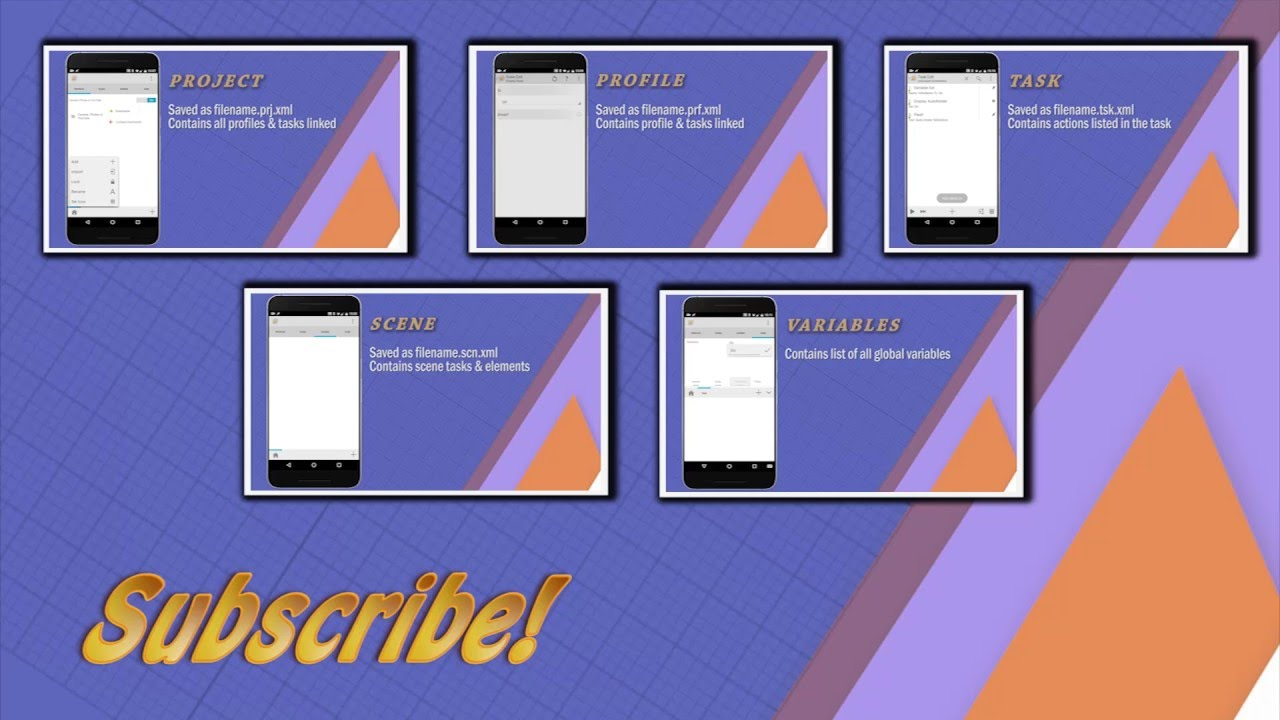 Tasker Projects, Profiles, Tasks and Variables explained