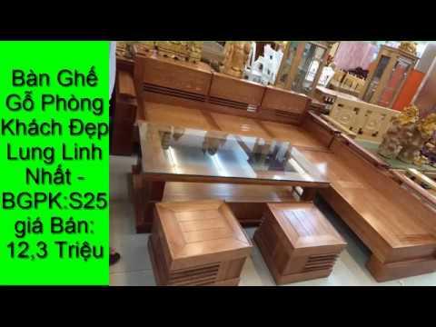 bán 69 Bàn ghế gỗ phòng khách giá bình dân