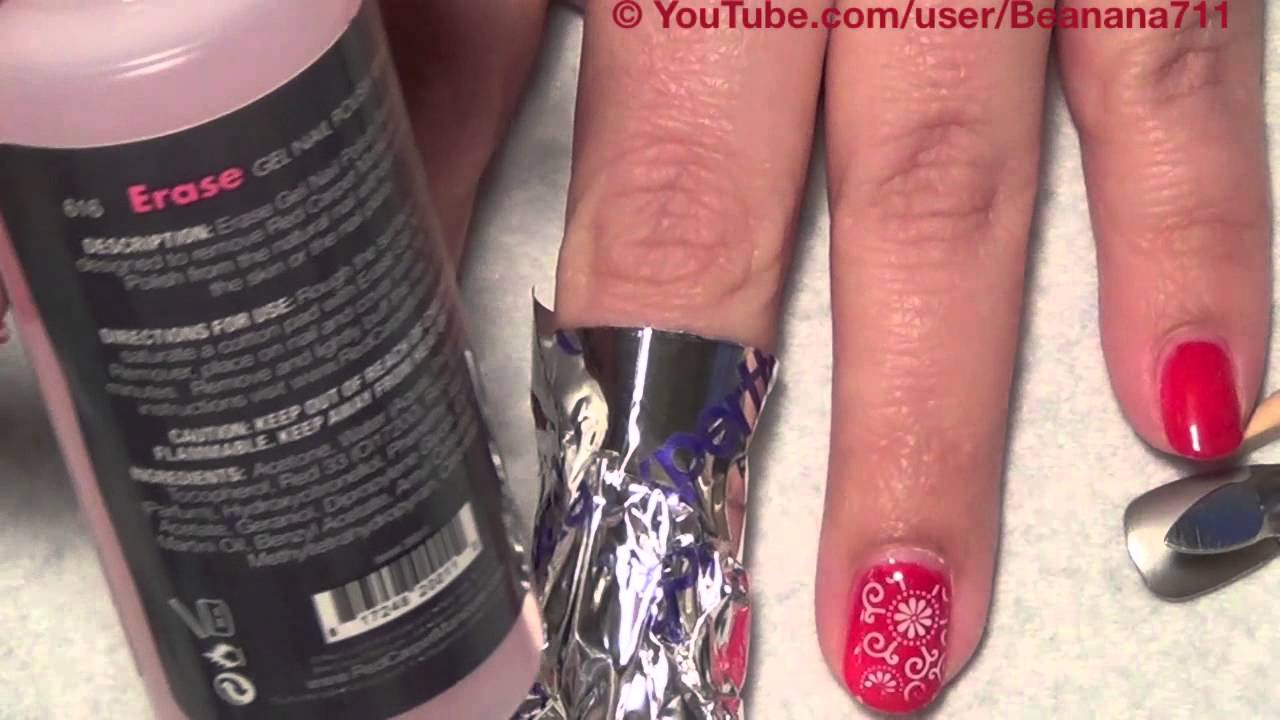 Red Carpet Gel Manicure Removal Using Erase Youtube