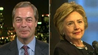 Farage reacts after Clinton blames him for election loss
