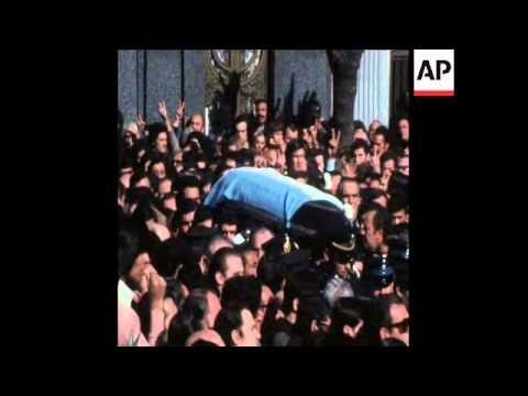 UPITN 22 7 74 Buenos Aires funeral of Trade Union leader.