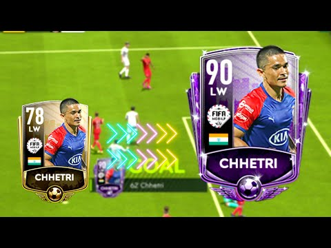 Sunil Chhetri In FIFA Mobile || 78 To 90 Sunil Chhetri Upgrade || Chhetri Gameplay In FIFA Mobile