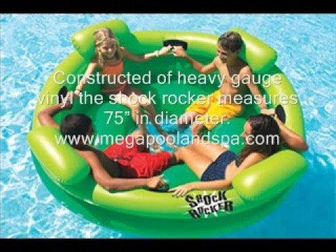 Shock Rocker Inflatable Swimming Pool Raft Toy Youtube