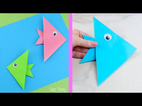 Super Simple Origami Fish - Origami For Kids YT VIDEO