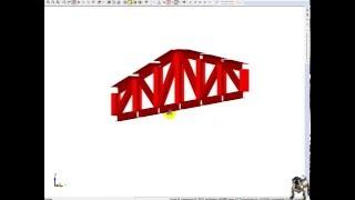 StructureCAD основы, расчет металлической фермы