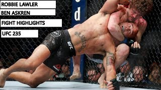 Robbie Lawler vs  Ben Askren Fight Highlights UFC 235 MMA