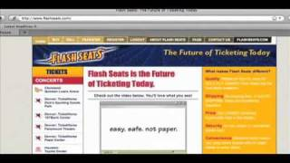 Flash Seats® Tutorial - Buying Tickets