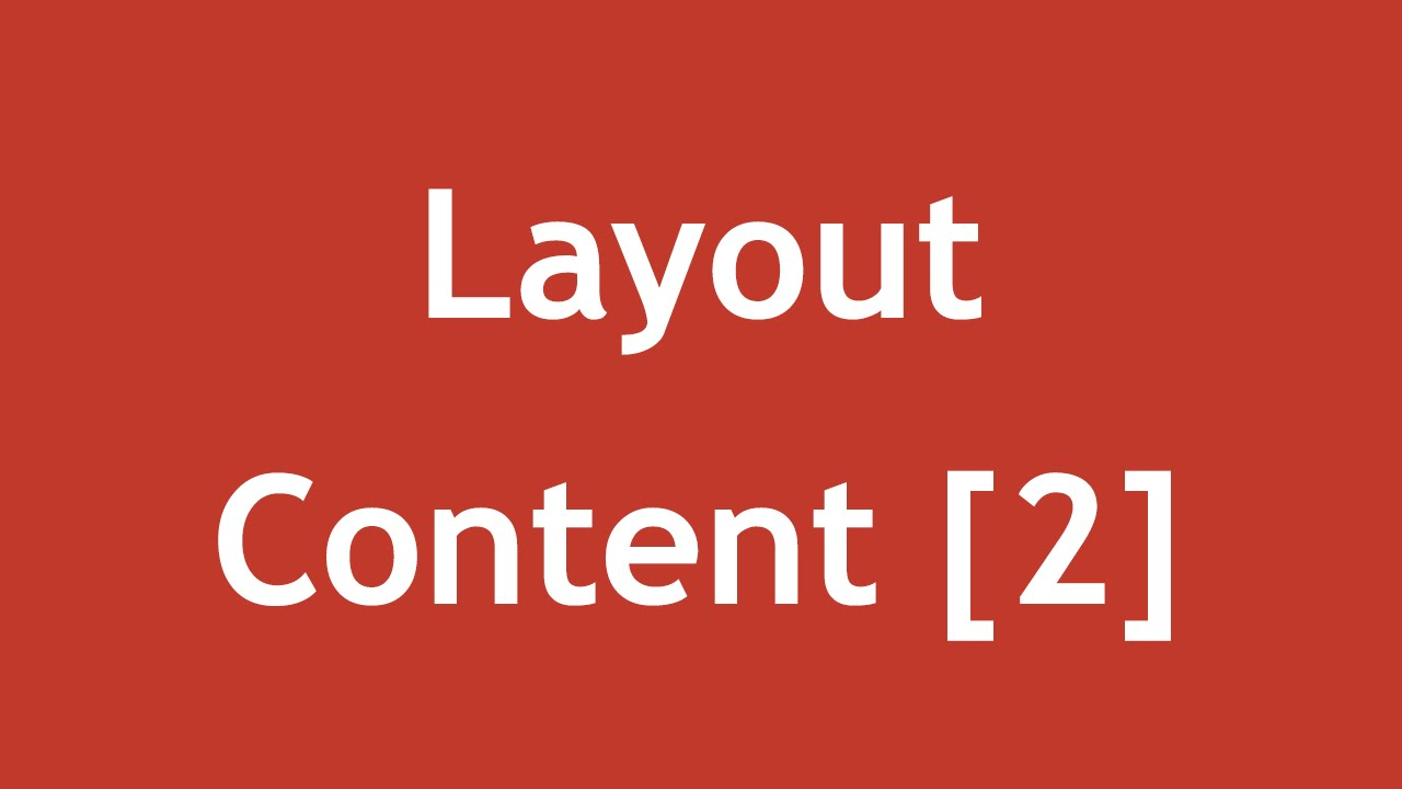 [ Arabic Tutorial Create Template ] #04 - Layout Content Pt2