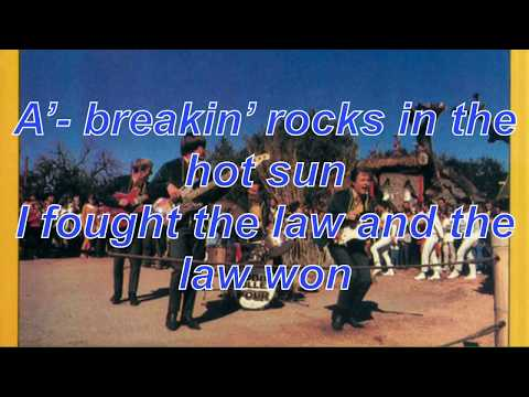 I Fought The Law (And the law won) - The Bobby Fuller Four (LYRICS)