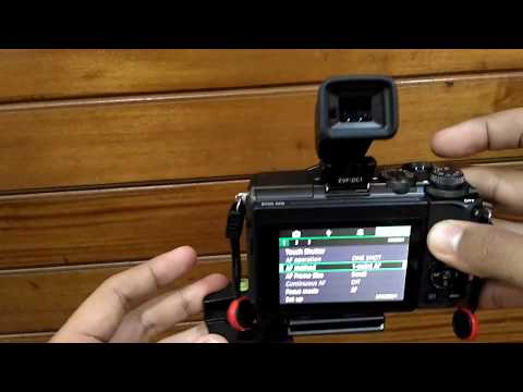 Canon EVF-DC1 with EOS M6 Viewfinder test