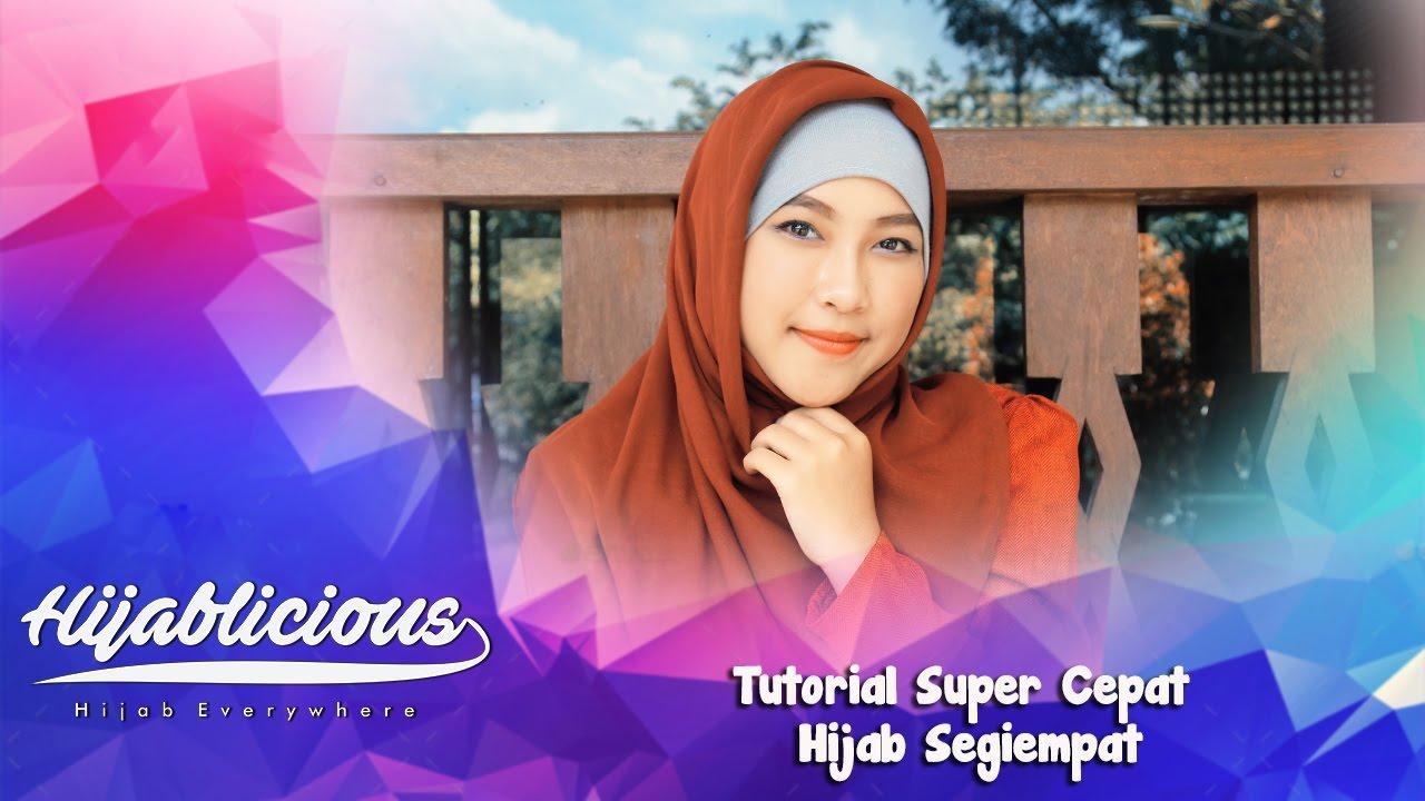 Hijablicious Tutorial Super Cepat Hijab Segiempat