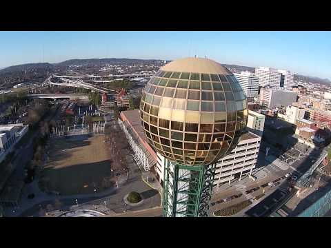 The Sunsphere as seen with the Phantom 2 Vision+