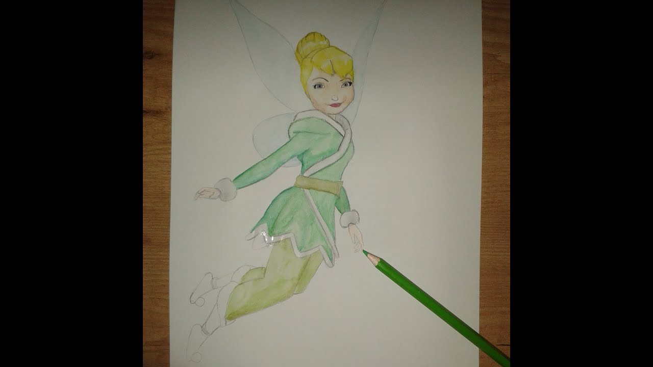 Como dibujar a Campanilla  How to draw and paint Tinker bell