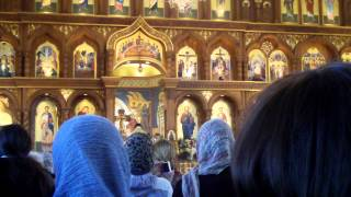 Cherubic Hymn- Херувимская Песнь- хор Сретенского монастыря.(This video was taken at the Divine Liturgy of the 5th Year Anniversary of the Reuniting of the Russian Orthodox Church (MP and ROCOR) on October 13, 2012 ..., 2012-10-26T17:31:10.000Z)