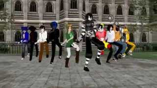 Repeat youtube video MMD iNSaNiTY (Creepypasta boys)