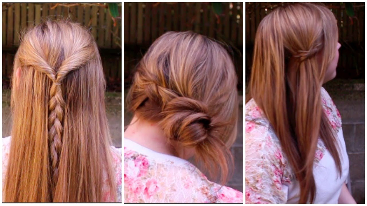3 easy spring braided hairstyles! - youtube