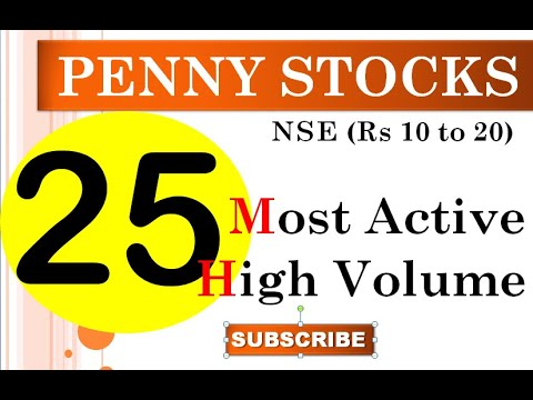 25 Most Active High Volume Penny Stocks Rs (10-20) | Penny Stocks | Best Penny Stocks | penny 2020