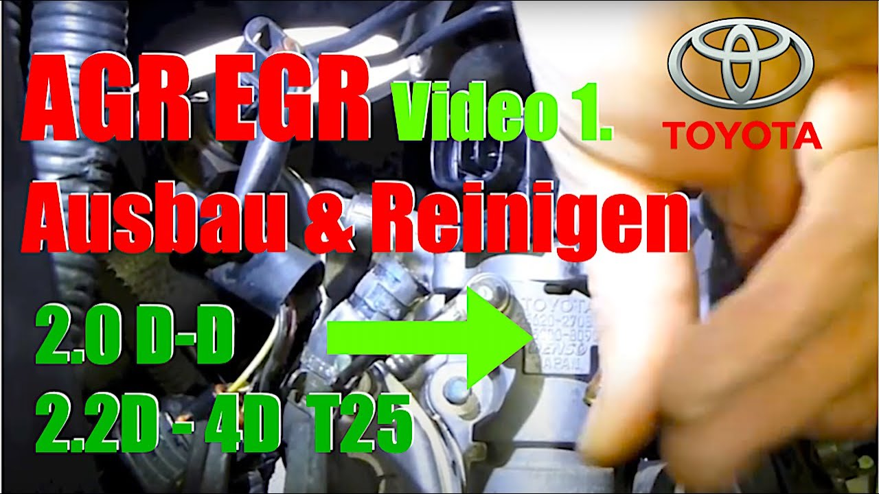 egr valve cleaning toyota d4d teil 1 youtube. Black Bedroom Furniture Sets. Home Design Ideas