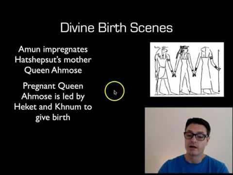Hatshepsut Divine Birth and Coronation Scenes