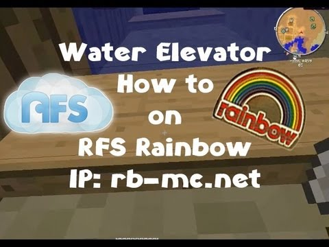 Minecraft Water Elevator How to - RFS Rainbow IP: rb-mc.net