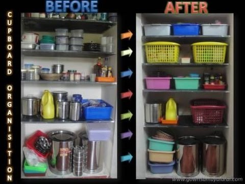 Kitchen Cupboard Organising | Tipsin Tamil | English subtitles | Gowri Samayalarai