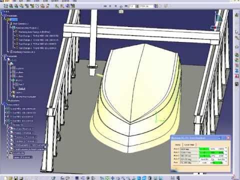 CATIA Marine - Hull for NC Milling