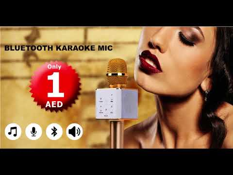 Bluetooth Karaoke Mic in 1 AED