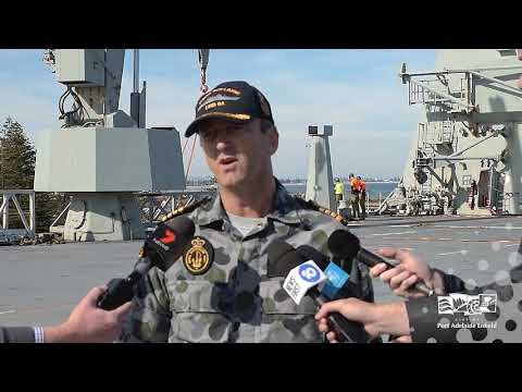 HMAS Adelaide Visit To Outer Harbor Port Adelaide April 2019