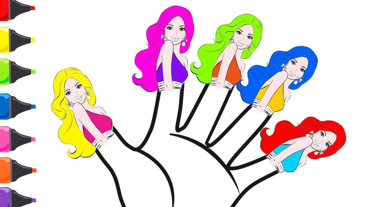 Barbie Parmak Ailesi Boyama Turkce Cocuk Sarkilari Renkleri