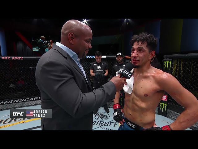 Adrian Yanez Octagon Interview   UFC Vegas 32