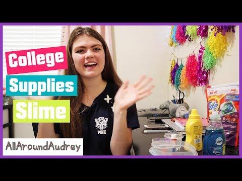 College School Supplies Slime Making / AllaroundAudrey