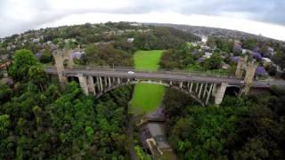 Long Gully Bridge - Cammeray - New South Wales - Australia (4K Ultra HD)